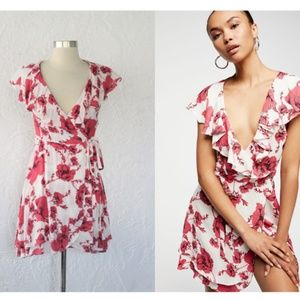 NWT Free People French Quarter Floral Wrap Dress